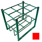 Cylinder Stand, M7, M9, C, D and E Cylinders, 6 Cylinder Capacity, Red