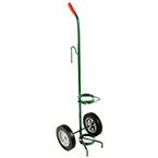 "Cylinder Cart, Steel, Green, Capacity 1, Mask Hook, 41"" H x 10"" D x 12"" W, 2-8"" Wheels, 8 lbs"