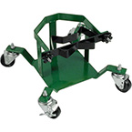 Rolling Cylinder Stand, M, M60, H, T Cylinders, 1 Cylinder Capacity, 4 Casters, Green