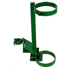 Cylinder Holder, D, E Cylinders, 1 Cylinder Capacity, Wheelchair Attachment, 14in H x 6in D x 9in W, 4 lbs, Green