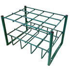 """Cylinder Stand, Steel, Green, Capacity 12, 19.5"""" H x 12"""" D x 18"""" W, 16 lbs"""