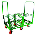 Cylinder Cart, Steel, Green, Capacity 40, 45in H x 25.25in W x 46.5in D, 128lbs