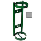 """Cylinder Holder, Steel, Chrome Plated, Capacity 1, Wall Mount, 2 Ring, 14"""" H x 5"""" D x 5"""" W, 4 lbs"""