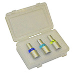 Test Lung Resistor Kit, Silicone, 1.0 L, Adult, Ventilation Bag, 3 Resistors: Rp5, Rp20 and Rp50