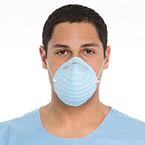 Face Mask, Cone, Molded w/Headband, Blue
