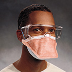 Face Mask, Fluidshield, PFR95, Regular, N95 Particulate Filter, Surgical Mask, Headbands, Orange