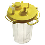Suction Canister Liner, Quick-Fit, Attached Lid, 1500 cc