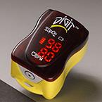 Pulse Oximeter, Finger, Pediatric, Adult, Compact, Portable, Yellow Skirt