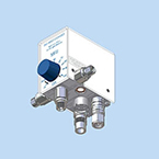 Blender, Air/Oxygen, High/Low Flow, 3 Ports, No Hose, MRI Compatible