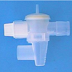 Exhalation Valve, w/Drip Cap, Left Plugged, Right 22mm OD, Diaphragm Cap 1/8in ID, Drip Cap 22mm OD