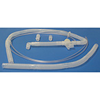 Breathing Circuit, Adult, Holding Arm, Temperature Tee, Extra Hose, Adapters, 15 mm x 4 ft
