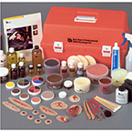 Full Professional EMS Moulage Kit, with Red Carrying Case
