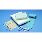Shroud Kit, Child, Opaque Linen Plastic Sheet, Waterproof, White, 54 in x 72 in