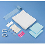 Post-Mortem Kit, Adult, Straight Zipper Bag, Personal Effects Bag, Plastic, White, 36 in x 90 in