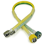 Dual Blender Hose, Coiled, DISS Fittings, 10ft