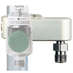 Single O2 Flow Meter Manifold, 0-70LPM Manifold w/ DISS Fitting and 15ft Coiled O2 Hose