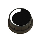 Regulator Knob, Large, Soft-Touch, Black, for Vacutron Suction Regulator, Replacement