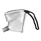 Face Tent Mask, Elastic Strap Under Chin, Accepts 22mm Corrugated Tubing, Adult
