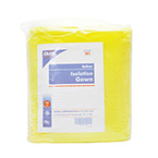 Isolation Gown, Spunbonded Polypropylene, Elastic Cuffs, Yellow