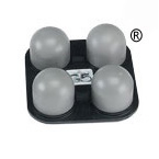 Applicator, 4 Ball, Rubber, Firm, G5 Percussor