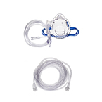 Procedural Oxygen Mask, Medium Concentration Adapter, 7ft O2 Line, CO2 Monitoring (Male to Male), 10ft Sample Line, Pediatric
