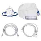 Procedural Oxygen Mask, 2 Oxygen Adapters (medium and high), 7ft Oxygen Supply Line, 10ft CO2 Sample Line, Male to Female, Pediatric