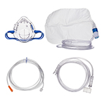 Procedural Oxygen Mask, 2 Oxygen Adapters (medium and high), 7ft Oxygen Supply Line, Microstream Compatible, 10ft Sample Line, Pediatric