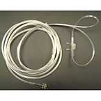 Oxygen Nasal Cannula, Adult, Conventional Tip, Clear Non-Flared Prongs, 7ft Kink Resistant Tubing