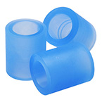 Flexible Adapter, Silicone, Soft Blue, 22 mm Female ID x 22 mm Female ID