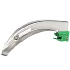 Laryngoscope Blade, Curaplex, Greenline/D, MacIntosh, Fiber Optic, 130 mm, Size 3, Medium Adult
