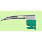 Laryngoscope Blade, Curaplex D, GreenLine Robertshaw, Fiber Optic, Size 0, Neonate, Disposable