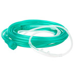"""Nasal Cannula, Soft, Curved, Up To 15LPM, Clear Star Lumen 14ft Tubing, Universal End Fitting, Adult<span style=""""color:#FF0000;font-weight:bold;padding-left:5px;"""">*Non-Returnable*</span>"""