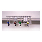 Organizer Basket, 4 Pre-Mounted Organizer Clips, Pole Mount Clip, 13 x 6.5 x 4 in