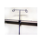 Holder, IV Pole, w/Adjustable Thumbscrew, Rail Mounting Clamp