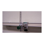 Single Oxygen Block, with Flowmeter, 0-15 LPM, DISS Bottom Inlet, Clamp