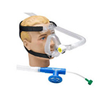 Face Mask, O2-RESQ, BiTrac ED, Full Face, Adult Large, Head Strap, Single Patient Use