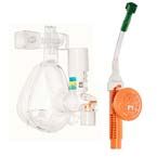 O2-MAX System, BiTrac ED Adult LG Full Face Mask, Expandable Circuit, 4in Hose w/ DISS, 3-SET Valve