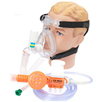 O2-MAX System, BiTrac ED Adult LG Full Face Mask, Expandable Circuit, 120in Hose DISS, 3-SET Valve