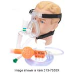 O2-MAX System, BiTrac ED Adult MD Full Face Mask, 72in Smooth Circuit, Hose w/Chemetron, 3-SET Valve