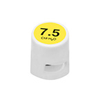 CPAP Valve, O2-RESQ, O2-CPAP, 7.5 cm, Yellow, 22 mm and 30 mm Connectors, Single Patient Use