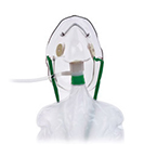 Oxygen Mask, Non-Rebreathing, Adult, 7ft Oxygen Supply Tubing, Adjustable Noseclip, Check Valve