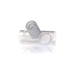Neb Tee, In-Line, with Valve, 22mm OD x 18mm ID x 22mm OD, Port Accepts Most Small Volume Nebulizers