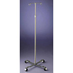 Stand, IV, 2 Hooks, 4 Casters, Flat Plate Base, Adjustable Height