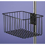Multi-Purpose Basket, Steel Wire, Vinyl Dipped, Black, 12L x 8W x 6D