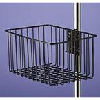 Multi-Purpose Basket, Steel Wire, Vinyl Dipped, Black, 12L x 8W x 6D