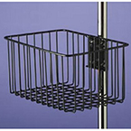 Basket, Mulitpurpose, Wire, Vinyl Dipped, Clamp, Pole, Stand, 12 in Wide