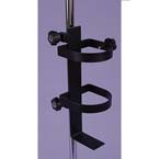 Oxygen Bottle Holder, Pole Mount, Stat-Stand, Black Powder Finish, D and E Size Cylinders