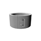 Wheel Guard Device, CASTrGARD, Small, Polypropylene Structural Foam, Gray, Set of 4