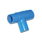 Tee Adapter, Single Patient Use, 22 mm ID x 22 mm OD x 15 mm ID, 22 mm OD, Polyethylene