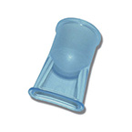 Mouthpiece Adapter, Single Patient Use, 22 mm ID, Polystyrene Butadiene, Blue